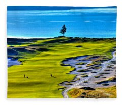 #5 At Chambers Bay Golf Course - Location Of The 2015 U.s. Open Tournament Fleece Blanket