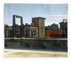 Manhattan Bridge Loop Fleece Blanket