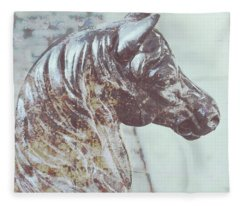 Horse Hitch Spattered Fleece Blanket