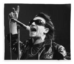 Bono Photographs Fleece Blankets