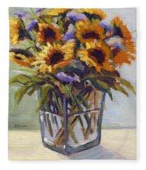 Summer Bouquet 4 Fleece Blanket
