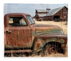 '54 Chevy Put Out To Pasture Fleece Blanket