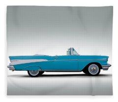 57 Chevy Convertible Fleece Blanket