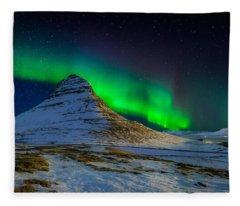 Aurora Borealis Or Northern Lights Fleece Blanket