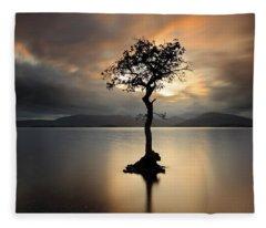 Loch Lomond Sunset Fleece Blanket