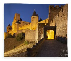 Medieval Carcassonne Fleece Blanket