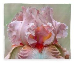 Pink Electrabrite Bearded Iris Fleece Blanket