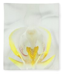 White Orchid-3 Fleece Blanket