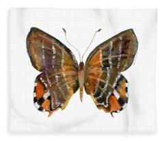 60 Euselasia Butterfly Fleece Blanket
