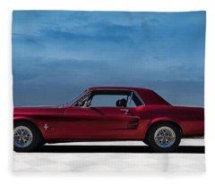 67 Mustang Fleece Blanket