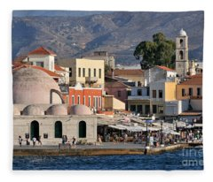 Chania City Fleece Blanket