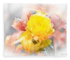 Flower Burst Fleece Blanket