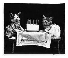 Frees Kittens, C1914 Fleece Blanket