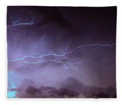 Our 1st Severe Thunderstorms In South Central Nebraska Fleece Blanket