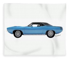 70 Cuda Long On White Vivachas Fleece Blanket