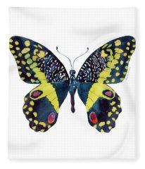 73 Citrus Butterfly Fleece Blanket