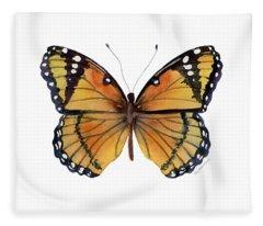 76 Viceroy Butterfly Fleece Blanket