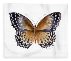 77 Cethosia Butterfly Fleece Blanket
