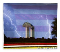 9-11 We Will Never Forget 2011 Poster Fleece Blanket