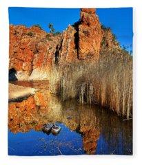 Glen Helen Gorge Fleece Blanket