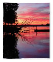 Sunset 9 Fleece Blanket