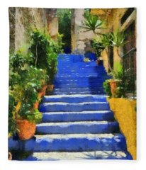 Symi Island Fleece Blanket