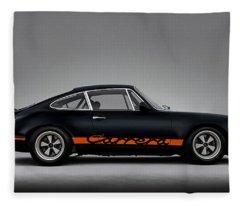 911 Carrera Rsr Fleece Blanket