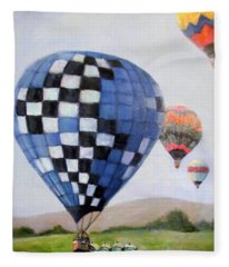 A Balloon Disaster Fleece Blanket