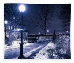 A Battery Park Winter Fleece Blanket