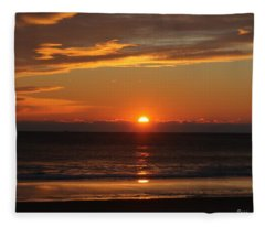 A Beach Life Sunrise Fleece Blanket