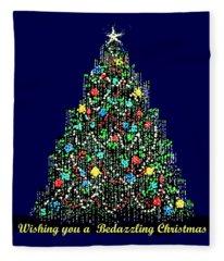 A Bedazzling Christmas Fleece Blanket