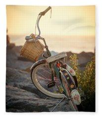 A Bike And Chi Fleece Blanket
