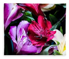 A Bouquet Of Peruvian Lilies Fleece Blanket