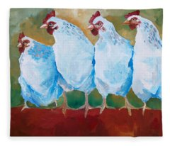 A Bunch Of Old Clucking Hens Fleece Blanket