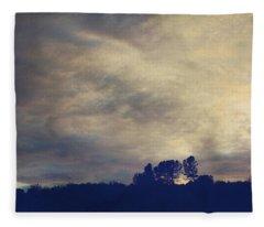 A Calm Sets In Fleece Blanket