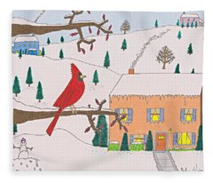 A Cardinal Christmas Fleece Blanket