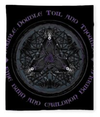 A Celtic Witches' Brew Fleece Blanket