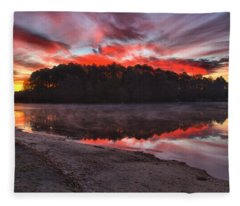 A Christmas Eve Sunrise Fleece Blanket