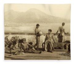 A Classical Scene In Tierra Del Fuego South America Fleece Blanket