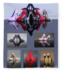 A Collection Of Stiletto Shoes Fleece Blanket