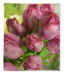 A Cool Bouquet  Fleece Blanket