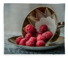 A Cupfull Of Raspberries Fleece Blanket