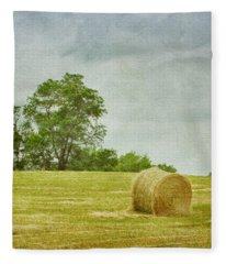 A Day At The Farm Fleece Blanket