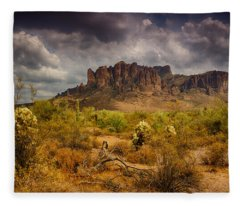 A Day At The Superstitions  Fleece Blanket