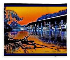 A Delta Sunset  Fleece Blanket