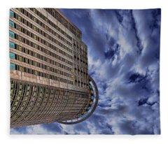 A Drifting Skyscraper Fleece Blanket