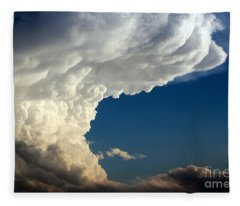 A Face In The Clouds Fleece Blanket