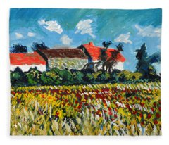 A Field In France Fleece Blanket