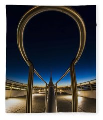 A Fisheye Look At The Ultra-modern Milwaukee Art Museum At Dawn Fleece Blanket