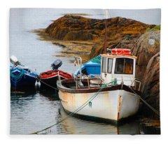 A Fishing We Will Go Fleece Blanket